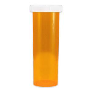 Amber Pharmacy Vials, Child Resistant Caps, 60 dram (222cc), case/115