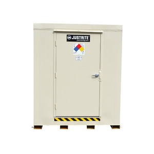 Outdoor Storage Locker, 2 Hour Fire Rated, 4-Drum, Explosion Relief