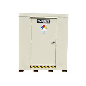 Outdoor Storage Locker, 2 Hour Fire Rated, 6-Drum, Explosion Relief