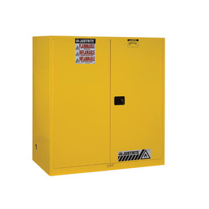 Justrite® Flammable 2-Drum Safety Cabinet for 55 gal drums, Manual, White