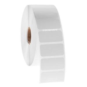 "Blackout Paper Labels, White, 1.5"" x 0.75"", 5000 labels/roll"