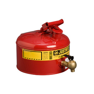 Justrite® Safety Can with 08540 Faucet, 2.5 gal, Choose Color