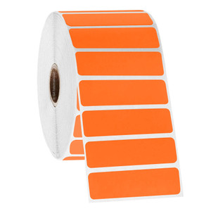 """Permanent FreezerTAG Deep-Freeze Labels for Thermal-Transfer Barcode Printers, Orange, 3.25"""" x 0.875"""", 3000 labels/roll"""