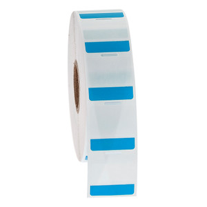 """Cryo-StrawTAG - Cryogenic Labels for IVF Straw Identification, Blue + Transparent, 1"""" x 1"""", 1000 labels/roll"""
