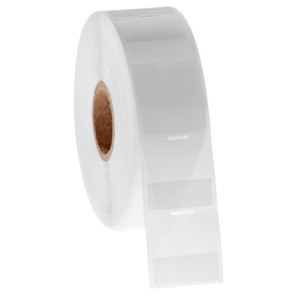 """Cryo-StrawTAG - Cryogenic Labels for IVF Straw Identification, White + Transparent, 1"""" x 1"""", 1000 labels/roll"""