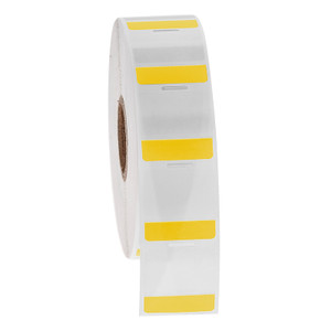 """Cryo-StrawTAG - Cryogenic Labels for IVF Straw Identification, Yellow + Transparent, 1"""" x 1"""", 1000 labels/roll"""