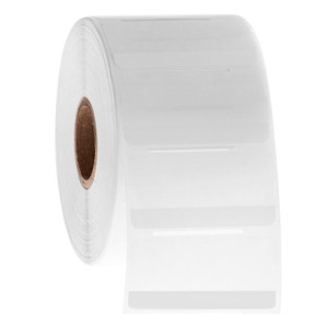 """Cryo-StrawTAG - Cryogenic Labels for IVF Straw Identification, White + Transparent, 2"""" x 1"""", 1000 labels/roll"""