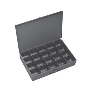 Individual, Large, Steel, Compartment Box, 20 Compartments, Gray