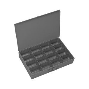 Individual, Large, Steel, Compartment Box, 16 Compartments, Gray