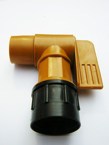 "Shown with optional adapter. Without adapter this faucet fits a 2"" NPT opening on any container."