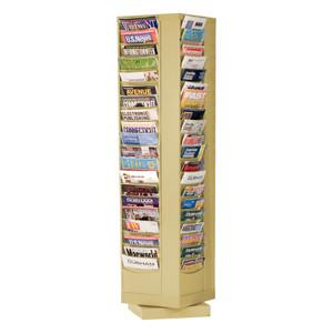 Rotary Lit Rack, 80 Openings, Tan
