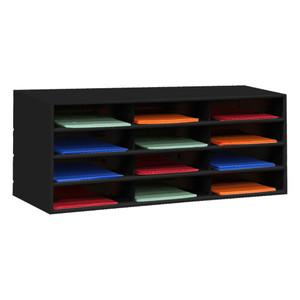 Horizontal Lit Rack, 12 Openings, Black