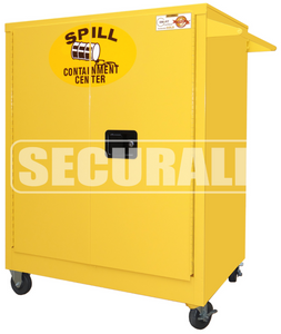 """Spill Containment Cabinets, Counter High Mobile Cabinet w/ casters (2 rigid, 2 swivel) / 2-Door, 42"""" x 36"""" x 24"""""""