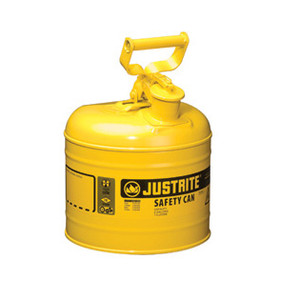 Justrite® Type I Steel Safety Can for Diesel, 2 gallon, Choose Color