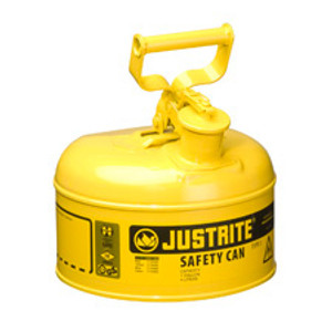 Justrite® Type I Steel Safety Can for Diesel Fuel, 1 gallon, Yellow