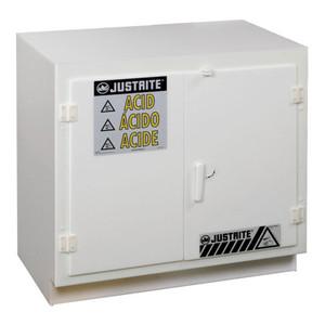 Justrite® Polyethylene Undercounter Safety Cabinet, Acid, White