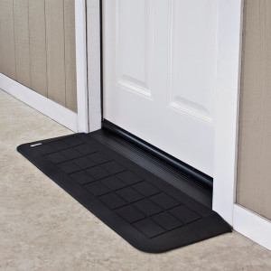 "Threshold Wheelchair Ramp, EZ-Edge, 1 1/4"" High, Single or Double Door"