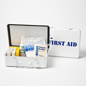 Medium First Aid Kit in Steel Case, Case/12