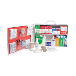 Small 2-Shelf Industrial First Aid Cabinet with Liner