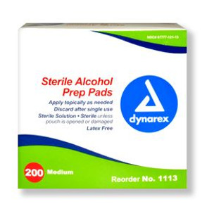 Sanitizing Alcohol Wipe Singles, Alcohol Prep Pads, case of 2000