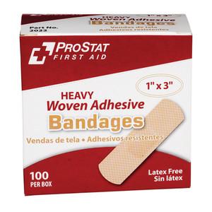 "Heavy Duty Woven 1""x 3"" Adhesive Bandage, Case/12"