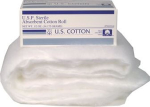 Sterile Absorbent Cotton 1/2 oz Roll, Case/48