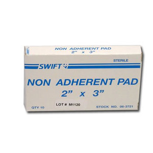 "Sterile Non-Adherent 2"" x 3"" Pads, Case/48"