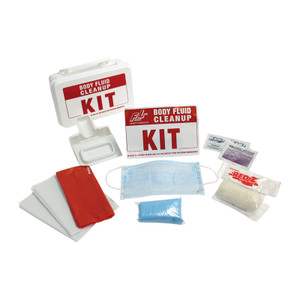 Body Fluid Cleanup Kit with Plastic Box, Case/12