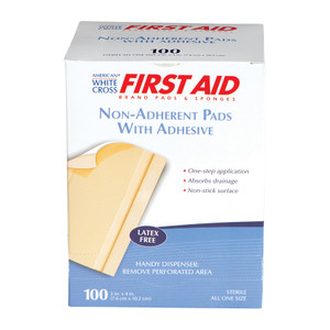 "Wound Dressing Pad, Sterile Non-Adherent, 3"" x 4"", 12 boxes of 100"