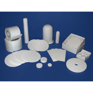 Binderless High Purity SiO2 Microfiber Filters, Quartz, Choose Size