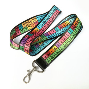 Rainbow Periodic Table of Elements Lanyard/ Badge Holder/ Keychain
