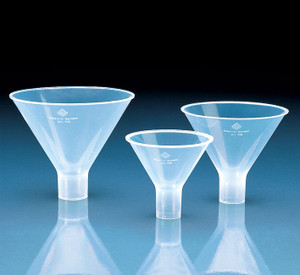 Powder Funnel, PP, D: 65mm, Length 68mm, Stem D: 15mm, case/10