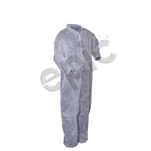 Disposable Coveralls, PP with Collar, White, case/25