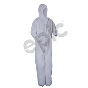 Disposable Coveralls, SMS with Hood, White, case/25