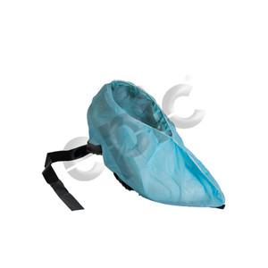 Disposable Shoe Covers, Plain PP, Conductive Strip, Blue, Large, case/300