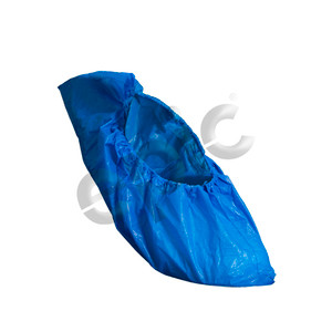 Disposable PE/Latex Shoe Covers, Blue, case/300