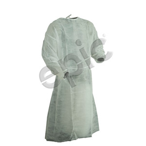 Disposable Medical Examination / Isolation Gown, PP, White, case/50