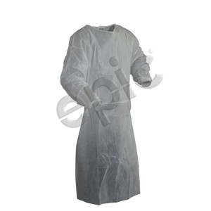 Disposable PE-Coated Isolation Gown, White, case/30