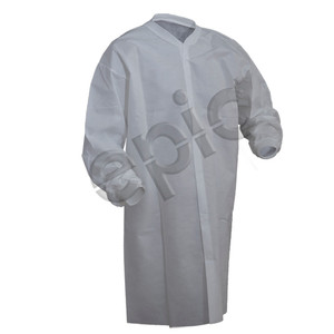 Light Weight PP Cleanroom Lab Coat, case/50