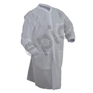 Premium PP Lab Coat with 3 Pockets, White, Choose, case/50