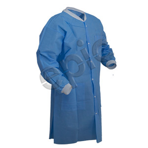 SMS Lab Coat with 3 Pockets, Blue, case/30