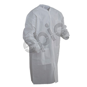 SMS Lab Coat with 3 Pockets, White, case/30