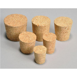 Cork Bottles Stoppers, Small (Size #000 to #4), case/100