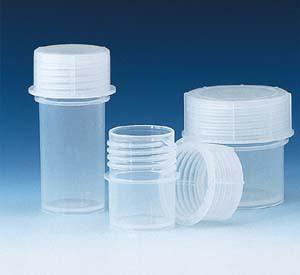 PP Sample Container, Screw Closure, 60mL, pack/10