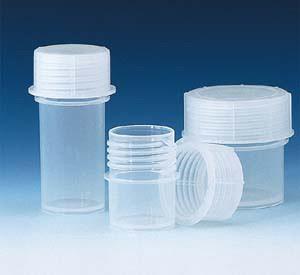 PP Sample Container, Screw cap, 180mL, pack/10
