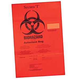 Red Autoclavable Biohazard Bags, Super Duty, Compliant, case/100