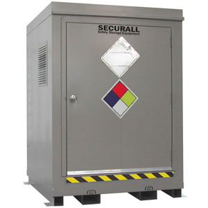 HazMat Drum Storage Locker with Optional Fire Rating, 4-Drum