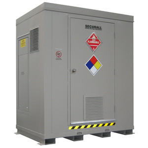 HazMat Drum Storage Locker with Optional Fire Rating, 6-Drum