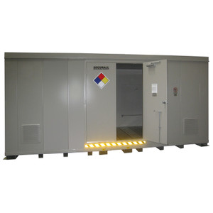 HazMat Drum Storage Building with Optional Fire Rating, 32-Drum