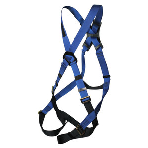 Cross Over Fall Safety Harness, Leg Straps, Back D-Ring, Choose Size